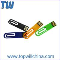 Portable Plastic Paper Clip 2GB Usb Disk for Company Gift and Business Man Manufactures