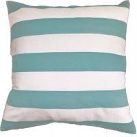 China Green Stripe Printed Pillow Cushion Covers , Decorative Pillow Covers on sale