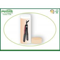 China Custom Kraft Paper Tube Box Damp - Proof Durable For Hair Extension Packaging on sale