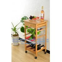 bamboo multilayer dining car, the wooden hotel dining car, wooden dish rack Manufactures