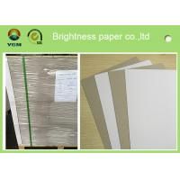 Single Side Coated Grey Back Box Board Paper , High Brightness Board Stock Paper Manufactures