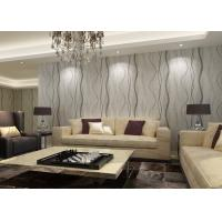 Removable Interior Room Wallpaper With Stripes For Sitting Room OEM Service Manufactures