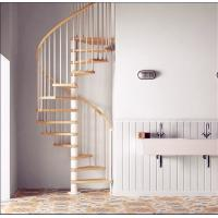 China Modern Stainless Steel Railing Wooden Spiral Stair Circular Staircases wholesale