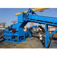 China Steel scrap metal scrap small particle production line scrap steel shredder on sale