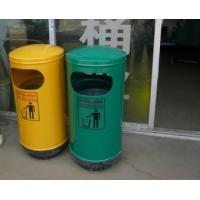 Outdoor Stainless Steel Single Dustbin  ,trash cans Can be customized with logo  Manufactures