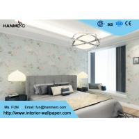 China Moisture Proof Country Floral Wallpaper / PVC Embossed Wall Covering For Living Room wholesale