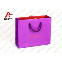 Pink Holiday Goodie Christmas Paper Bags No Minimum Hot Foil LOGO Manufactures