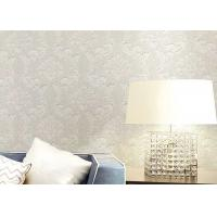 Floral Wet Embossed Non - Woven European Style Wallpaper For Study Room Manufactures