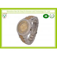 Commercial Men Business Casual Watches With Debossed Logo / Diamond Alloy Case Manufactures