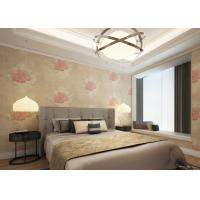 Waterproof Apricot Rustic Style House Decoration Wallpaper Floral Pattern Customized Manufactures