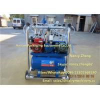 China Diesel Engine And Electric Motor Cow Milking Machine With Jetter Tray Washing on sale