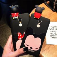 China Hot Selling 3d Soft PVC Mickey Minne Silicone Phone Case Phone Cover , Black Color , Best Christmas Gift on sale