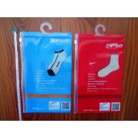 Waterproof Transparent PVC Pothook Plastic Pouches Packaging For Socks Clothes Manufactures