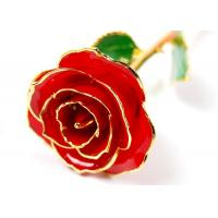 China Red Manual Gold Dipped Rose Valentine's Day gift flower love Length 30cm * 6cm on sale