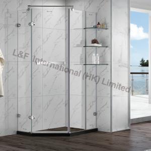 China R6114-2HL Tempered Glass Hinge Door with Shelf Shower Enclosure on sale