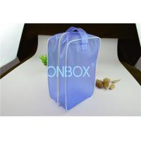 Carrying Blue Color PVC Gift Bag PVC Handbag  With Zipper Closure / Handle Manufactures