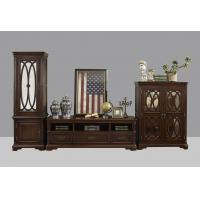 American Antique Living leisure room furniture sets Wooden TV wall unit set by Floor stand and Tall display cabinet Manufactures