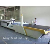 China Computerized Apparel Quilt Fabric Cutting Machine , Automatic Cloth Cutting Bed on sale