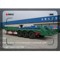 Low Bed Truck Trailer , Lowbed Semi Trailer For Transport Heavy Excavator Manufactures