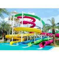 Kids / Adults Water Pool Slides Amusement 6 mm - 10 mm Durable Manufactures