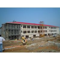 China H Column Green Painting Steel Frame Structures Prefabricated Workshop Building wholesale