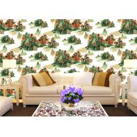 Chinese Style Room Decoration Wallpaper Mountains And Rivers Wallpaper For Sofa/TV Background Manufactures