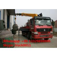 Heavy duty 8*4 HOWO Truck with Crane, Truck with XCMG Crane Truck with 10ton crane,