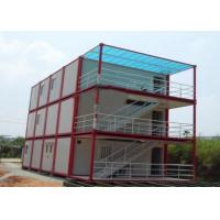 Multiple Function Prefab Flat Pack Containers Temporary Home / Office Portable House Units Manufactures