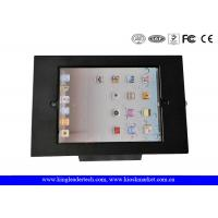 Matt Black Cold Rolled Steel Ipad Kiosk Stand With Lock & Key , Customization Manufactures