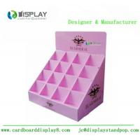 Shop retail table top cosmetic cardboard counter display customized stand Manufactures