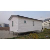White Eco Friendly Prefabricated Mobile Homes / Light Steel Log Mobile Homes Manufactures