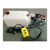 China Dump Trailer Hydraulic Power Pack Plastic Tank , DC 12V 2000W wholesale