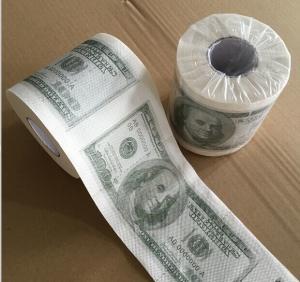 China Custom Printed Dollar& Emoji toilet tissue paper wholesale