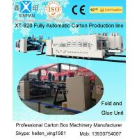 Automatic Box Folder GLuer Carton Manufacturing Machine With Printing Slotting Inline Manufactures