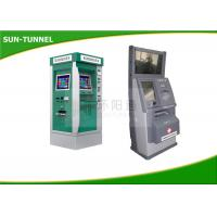 China Interactive Information Dual Screen Kiosk All In One With Coin Dispenser / Card Reader on sale