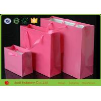 China Brown Kraft Paper Bags CMYK Printing Matt Lamination For Clothing / Shoes on sale