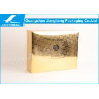 Gold UV pattern cardboard paper perfume packaging boxes with your design Manufactures