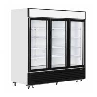China Commercial Upright Glass Door Freezer Fridge With Plug - In Embraco Compressor on sale
