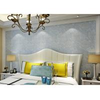 Soundproof Removable European Style Wallpaper , Blue 3d Silver Wallpaper Manufactures