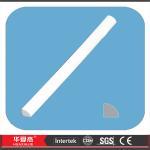 Blind Stop White Vinyl Waterproof PVC Trim Profile For Interior , No Warping