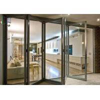 China European Style Aluminium Glass Folding Doors Waterproof / Soundproof ISO 9001 Approved wholesale