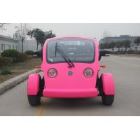 Legal Driving 4 Person Golf Cart , 48V Battery Operated Golf Buggies With Seat Adjustable