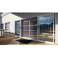 China 0.8 - 2.0mm Thickness Aluminium Security Doors With Extrusion Profile White Color on sale