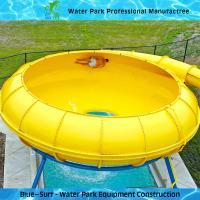 Yellow Space Bowl Fiberglass Water Slides Customized Outdoor Water Slides Manufactures