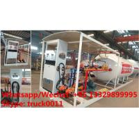China high quality and lower price 2.5tons-10tons mobile skid lpg gas refilling station with auto lpg gas dispenser(with Manufactures