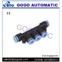 One Touch Plastic Tube 5 Way Quick Connect Hose Fittings Pneumatic 6mm To 4mm Manufactures