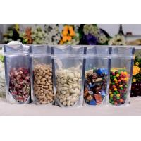 Plastic Food Packaging resealable stand up pouch with zipper , SGS / FDA Manufactures