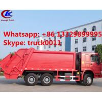 China 2016 new sinotruk howo brand 20ton compactor garbage truck for sale, hot sale best price howo 6x4 garbage truck for sale wholesale