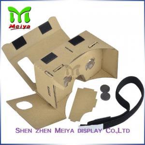China Brown Virtual Reality Cardboard Box , Cardboard VR Box 3D Glasses on sale