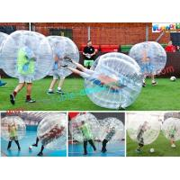 Transparent Body Zorb Ball / Bubble Football Ball / Bubble Bumper Ball With TPU Manufactures